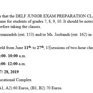 DELF Junior preparation classes