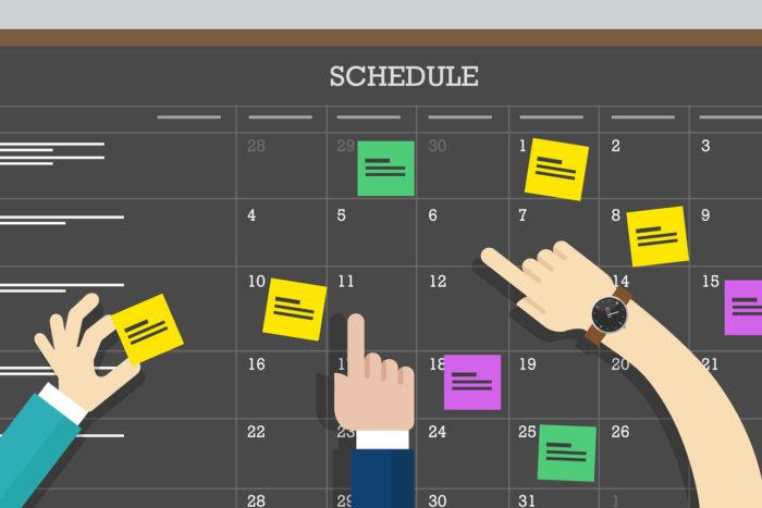 Weekly Online Classes Schedule